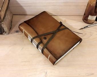 Rustikale Leder Journal, antik braun Leder