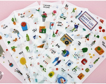 6 Sheets, Cute Sticker