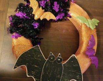 Bat Halloween Wreath