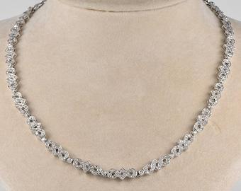 SALE! Outstanding Art Deco 7.90 Ct diamond rare necklace