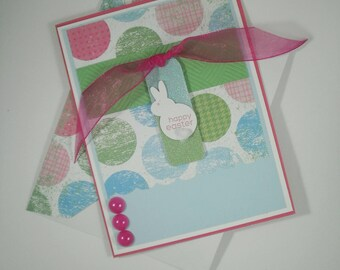 Easter Card, Happy Easter Card, Handmade Easter Card, Easter Bunny Card, Bunny Card, Easter Bunny, Spring, Holiday Card, Easter