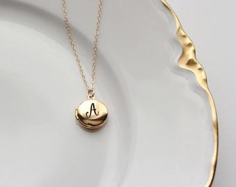 Personalized Locket Necklace - MINI Personalized Locket Necklace, Engraved Locket, Valentine's Gift, Personalized for Her, Gift for Her