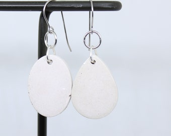 white concrete earrings, concrete jewelry, modern jewelry, geometric jewelry, minimalist jewelry, unique gift, mothers day