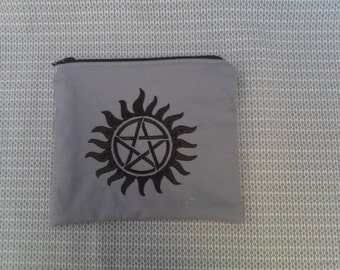 Supernatural Embroidered Zipper Pouch