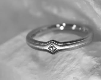 Princess ring, gold ring, engagement ring, white gold ring, Princesscut-diamonds, diamond