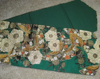 Green Obi (Japanese Sash) Table Runner