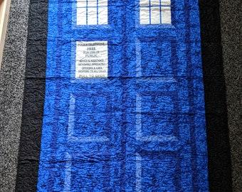 TARDIS lap quilt or wall hanging