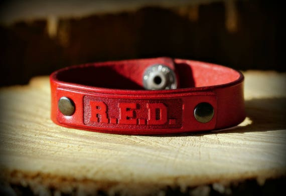 Ryan Weaver Riveted Professional Bull Riders R.E.D. Leather Strap