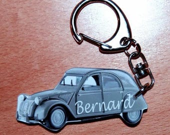 citroen cv 2 photo Keychain personalized with a name or text