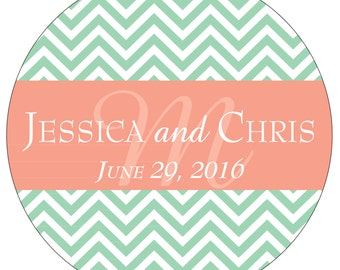 80 - 2 inch Personalized Wedding Stickers Labels - hundreds of designs to choose from - change designs to any color or wording WR-012
