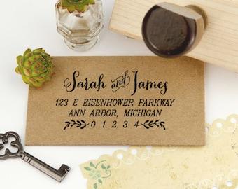 Return Address Stamp, Housewarming Gift Stamp, DIYer Gift Stamp, Wedding Rubber Stamps. Address Label Rubber Stamp 2.75x1.5 Inch - A3