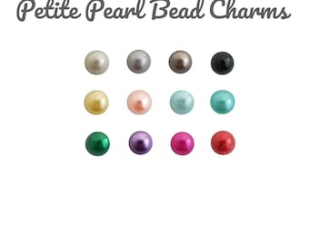 Pearl Accent Floating Charm, 3MM SMALL PEARL BEAD for Glass Memory Locket Pendant, Pearl Charm for Personalized Floating Locket Necklace.
