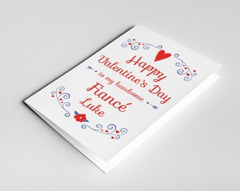 Fiance Valentine's card, card for fiance, finance valentine, happy Valentines day card, fiance gift, card for him, fiance Valentine's day