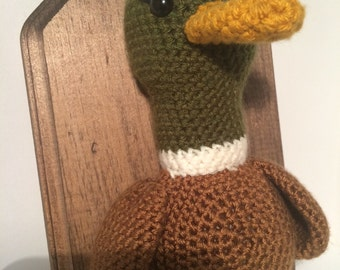Amigurumi Crochet Taxidermy -  Large Mallard Duck