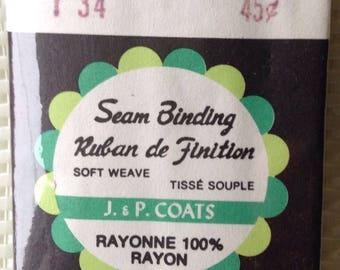 Seam binding - burgundy- made by J & P Coats