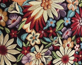 Mexican Fabric Jacquard Mexican Floral  Frida Pattern Fabric