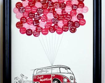 Wedding Guest Book Balloons VW Bus