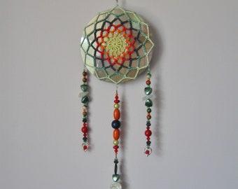 Crochet Beaded CD Mandala