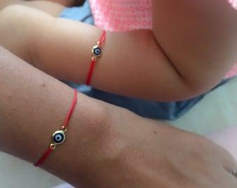 SALE Baby Evil Eye Red Bracelet. Red String Bracelet.Kabbalah Bracelet. Red Bracelet. Red Bracelet Evil Eye, Turkish eye bracelet,