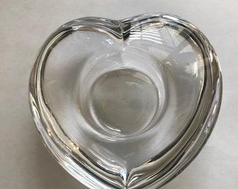 Orrefors Heart Votive Candle Holder