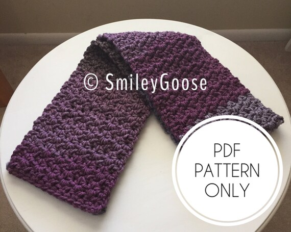 Chunky Crochet Scarf Pattern Cordelia Scarf Easy Crochet