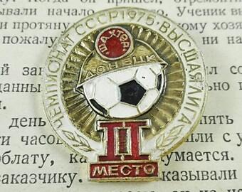 Boyfriend gift Badge gift USSR Soviet football team Sports collectibles Football fan gift Football clubs Championship I love football