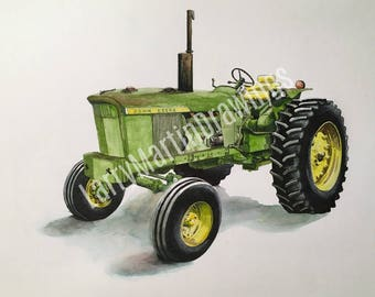 John Deere 4020 Tractor Print