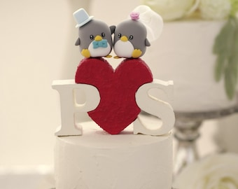 Penguins wedding cake topper (K442)