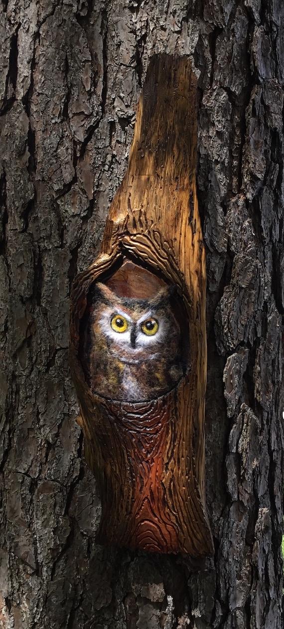 Woodlands decor/ Owl Art/ wall plaque