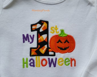 My First Halloween Outfit -Boys 1st Halloween Outfit -  Matching Leg Warmers - Boys or Girls Halloween Outfit