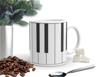 piano keys, music, piano, musician Mug Music lover, coffee lover, makes the perfect gift!  piano player mug. pianist mug pianist gifts music