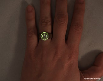 GLOWING Power Ring- 3D printed with glow in the dark!