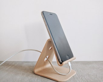 Stand iPhone 6 / 6s plus, Iphone 7/7 more minimalist design wood 3D printed