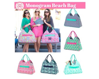 Monogram Beach Bags, Monogram Bags, Monogram Overnight bags, Personalized Bags, Bridesmaids gifts