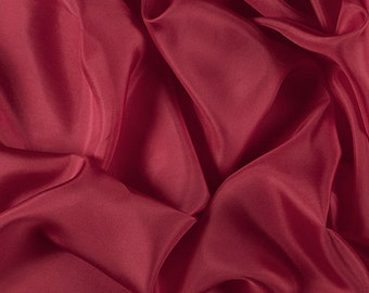 """45"""" Wide 100% Silk Habotai Bright Red-Wholesale by the Yard (2000M167)"""