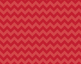 Small Red Chevron 100% Cotton Riley Blake Fabric by the YARD, 3/4, Half and 1/4 Yard Sewing/ Quilting/ Crafting/ Embroidery/ Applique Sewing