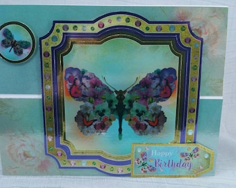 Butterfly Birthday Easel Card