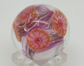 Tangerine Dream Bead, Lampwork Bead, Handmade Murrine, OOAK, Artisan