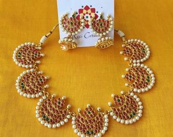 Kemp choker Necklace, Gold Polish Necklace, Indian ethnic Jewelry, Indian jewelry,