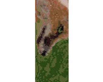 Fox Odd Count Single Drop Peyote Cuff/Bracelet Pattern