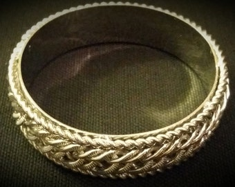 After Life Accessories Repurposed / Handmade Silver Bangle Chain Bracelet