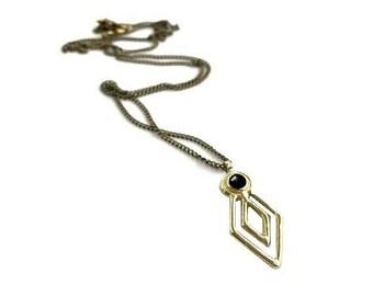 Delirium Necklace with Black Onyx