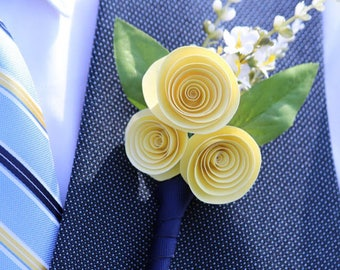 Handmade Paper Corsages and Boutonnieres