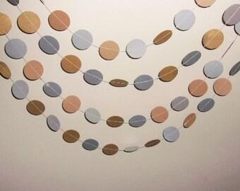 Gold and Silver garland, Circle Garland, Wedding Gold and Silver Circles Backdrop,  Wedding, Birthday,Circles, Holiday Garland