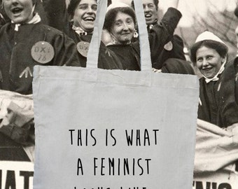This is what a Feminist looks like quote tote shopper bag - Feminism rules
