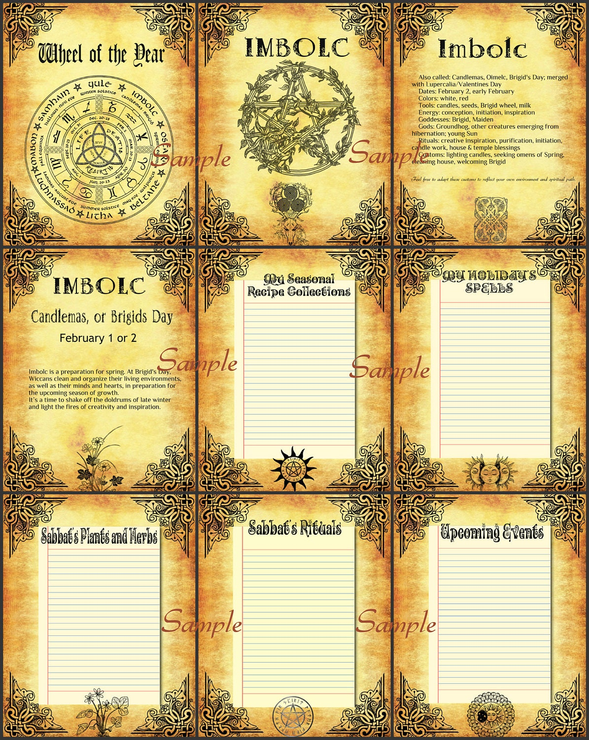 Imbolc traditions 10 Pages Wiccans rituals Wiccan Sabbats