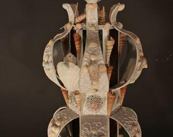 Sea Shell Pendant Hanging Lantern Light Fixture