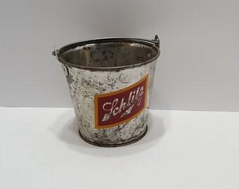 Vintage Schlitz Beer Galvanized Pail Ice Bucket