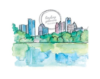 Atlanta Skyline print