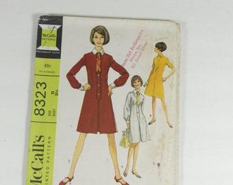 McCalls 8323 - Vintage 1966 Pattern  Misses and Juniors Dress - Size 11